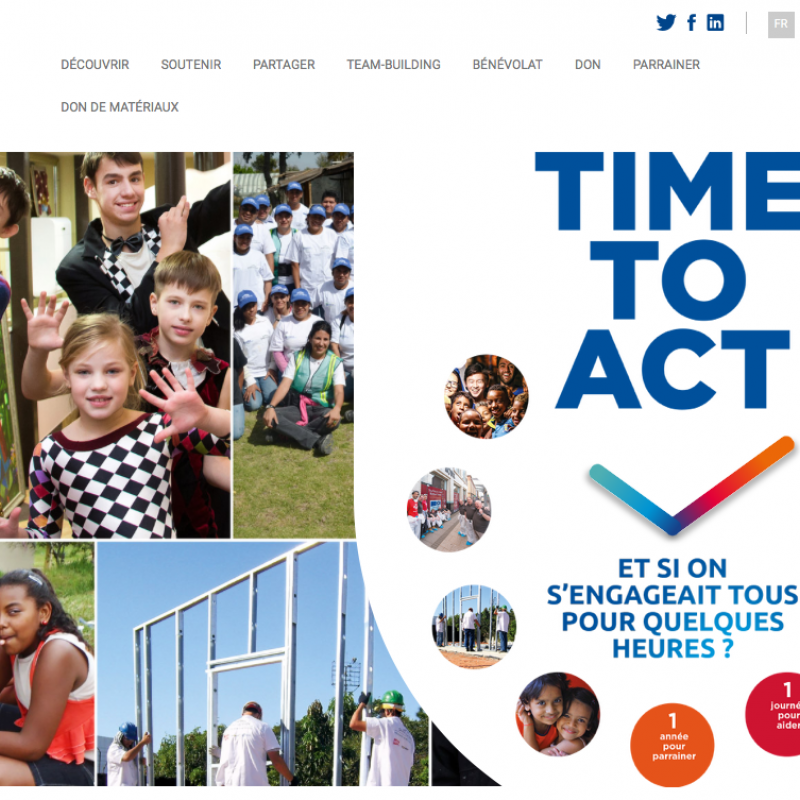 Fondation Saint-Gobain - Time to act